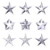 Fotografia diversi tipi e forme di stelle dargento