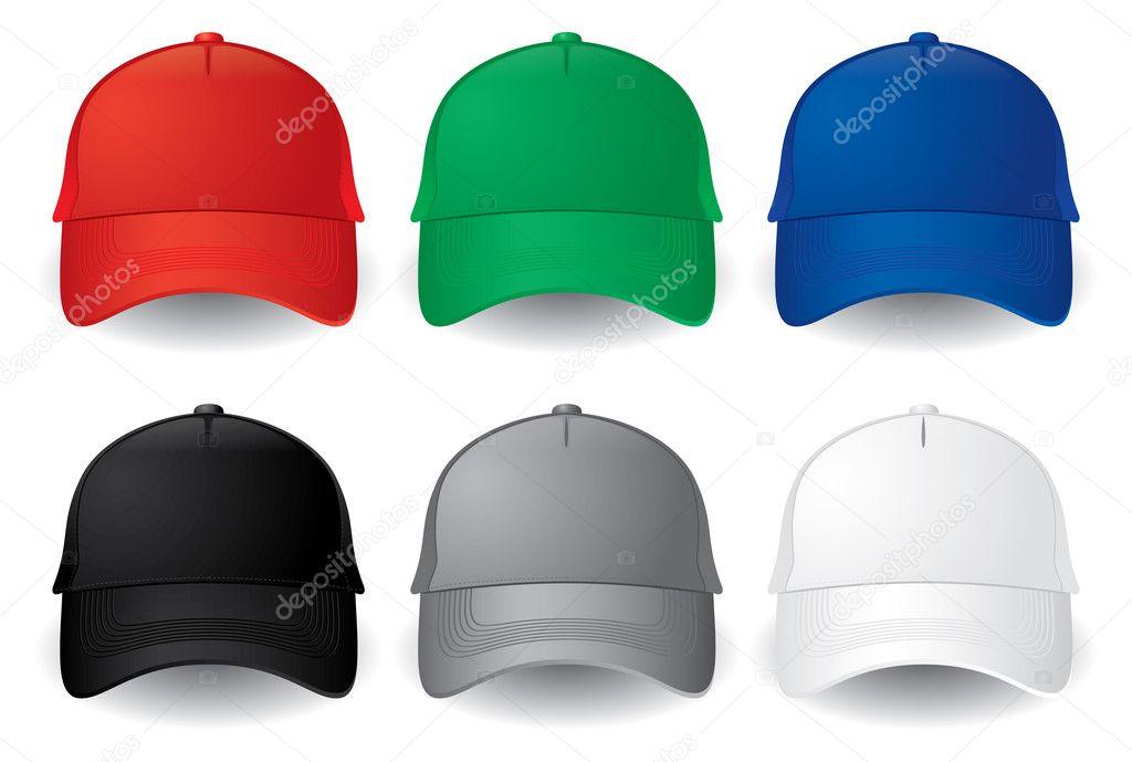 Vector baseball caps