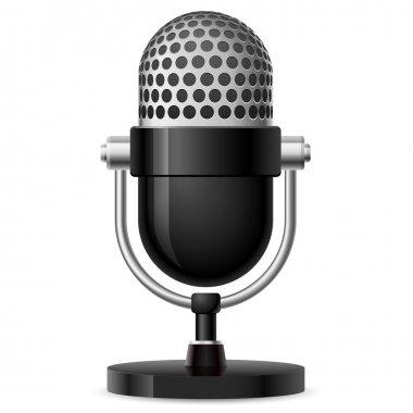 Realistic retro microphone