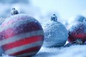 Vánoční ozdoba na pozadí blured