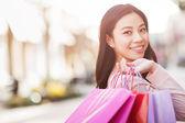 Photo Asian woman shopping