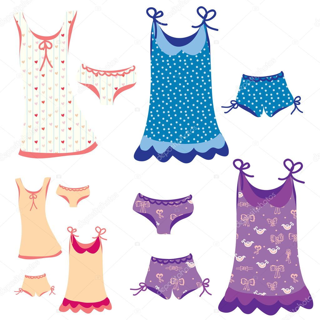 pijamas conjunto divertido con patrones — Archivo Imágenes ...