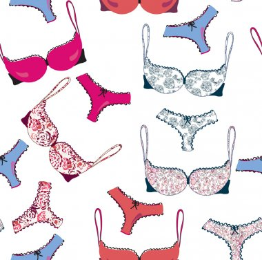 Lingerie funny seamless pattern