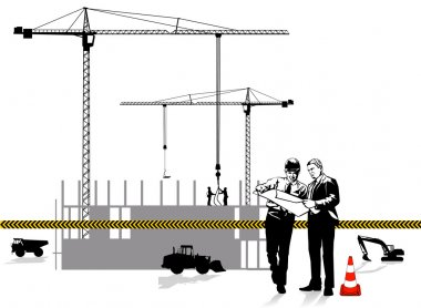 Architect and construction stock vector
