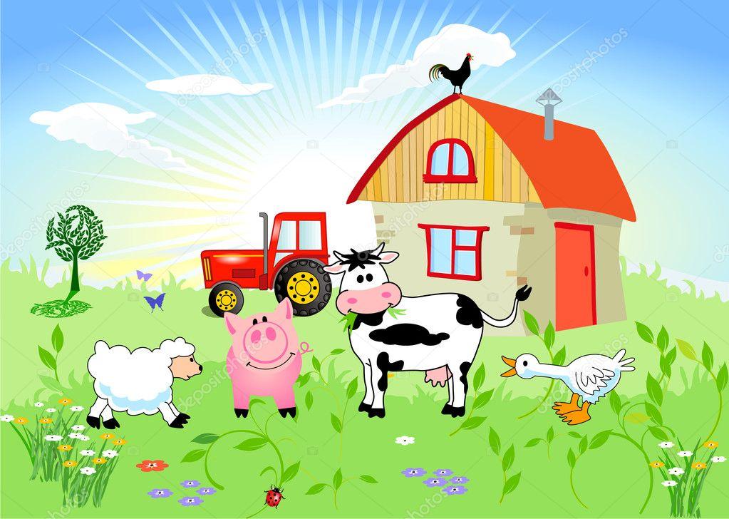 Animali da fattoria vettoriali stock scusi0 9 5845762 for Piani di fattoria di 2000 piedi quadrati