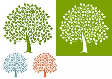 Oak tree stock vector