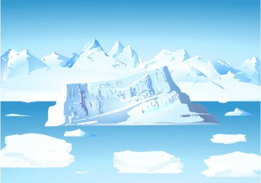 Iceberg and glacier stock vector