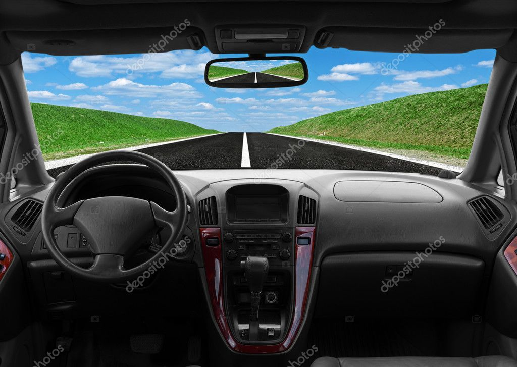 inside car view at high speed stock photo merznatalia 6135609. Black Bedroom Furniture Sets. Home Design Ideas