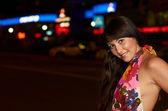 Fotografie Junge sexy Mädchen auf der Straße