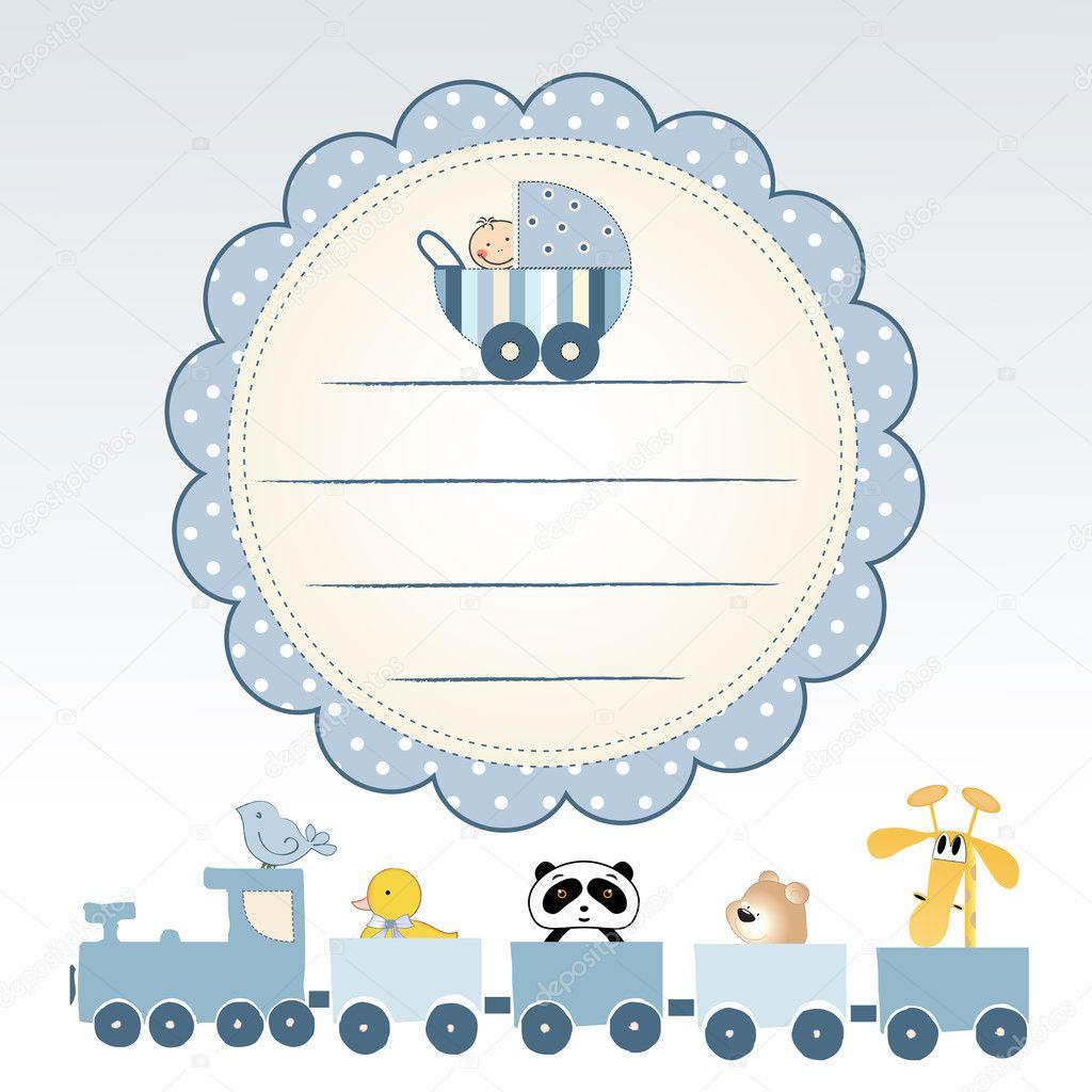 Welcome baby card — Stock Photo © ClaudiaBalasoiu #5494607