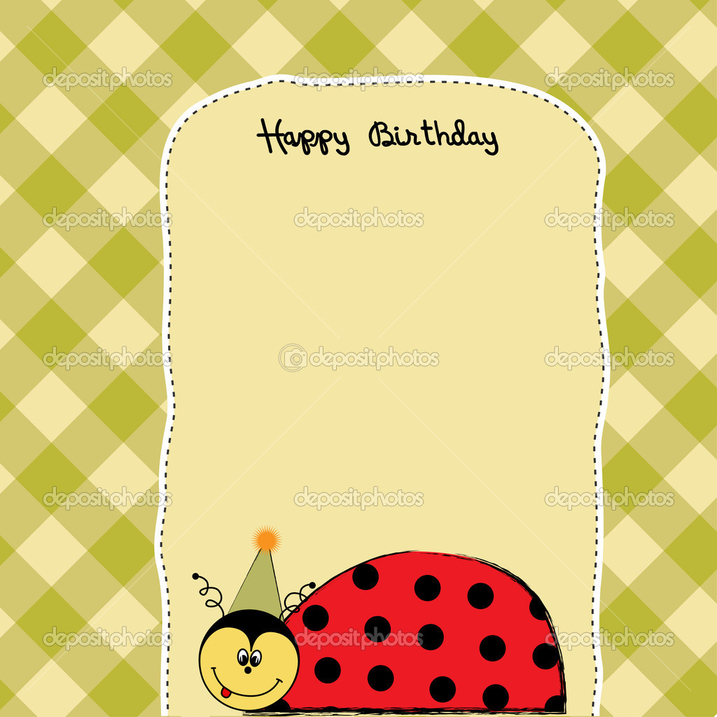 Happy birthday card with ladybug Photo ClaudiaBalasoiu – Ladybug Birthday Cards