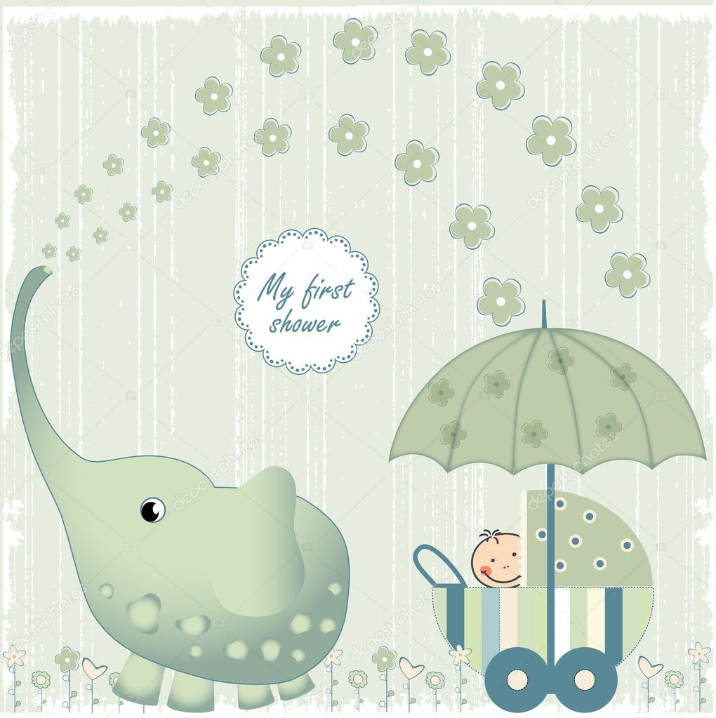 Baby Shower Stock Images ~ First baby shower — stock photo claudiabalasoiu