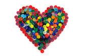 Fényképek szív-a kupak színe