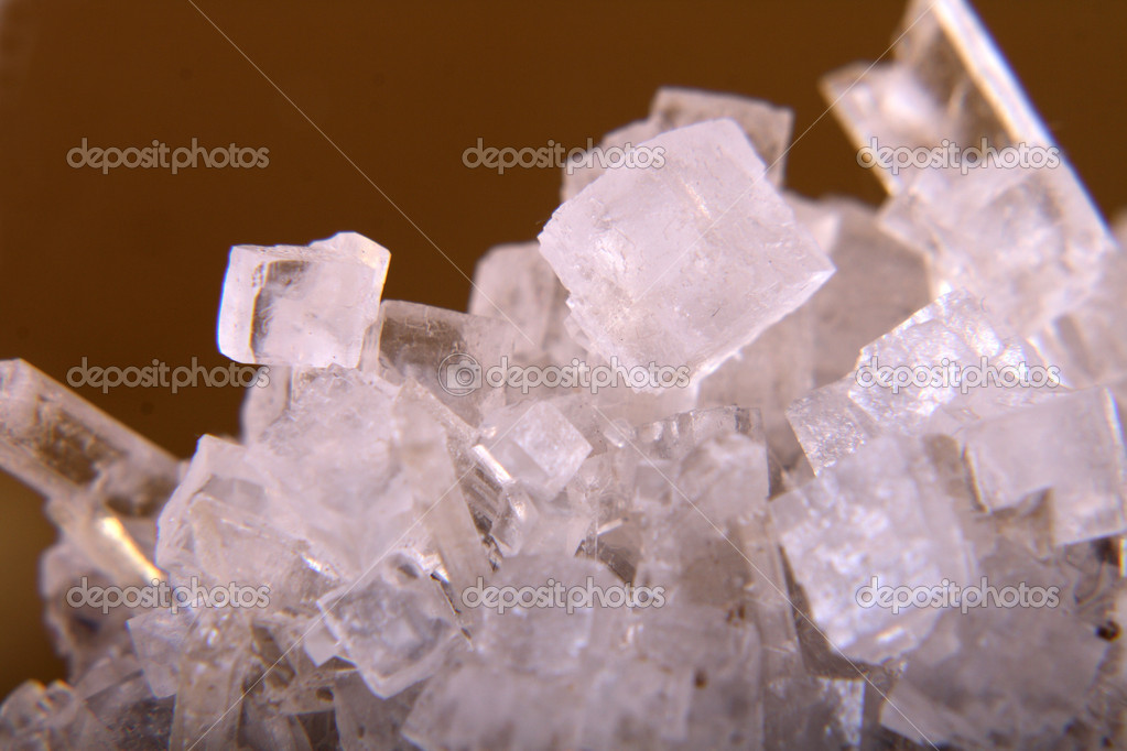 Cubes of salt