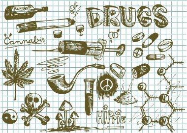 hand drawn drugs symbols