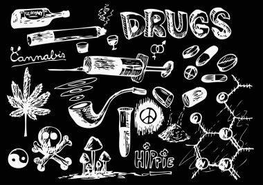 hand drawn drugs