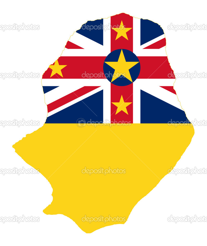 Niue Island flag on map Stock Photo speedfighter17 5392672