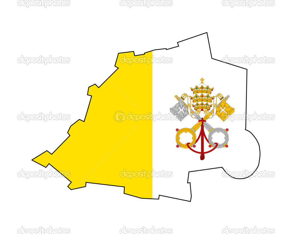 Vatican City State flag on map Stock Photo speedfighter17 5392704