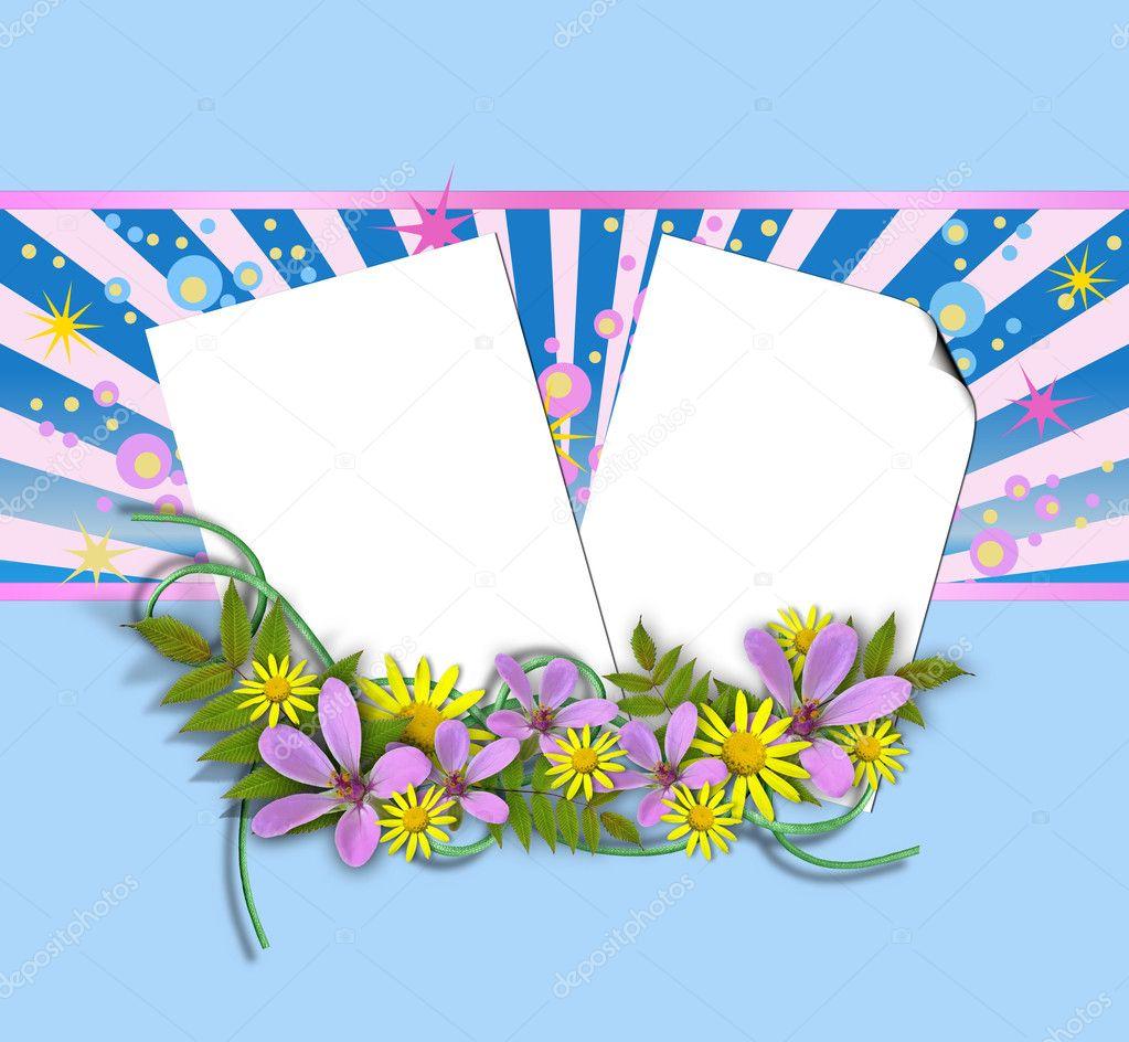 hoja de plantilla de papel en blanco — Foto de stock © aelita #6290708