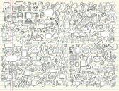 Photo Notebook Doodle Sketch Design Elements Mega Vector Illustration Set