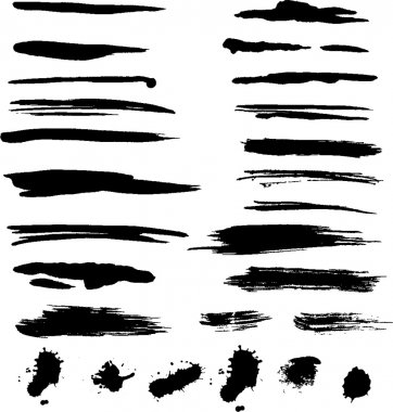 Grunge brush strokes