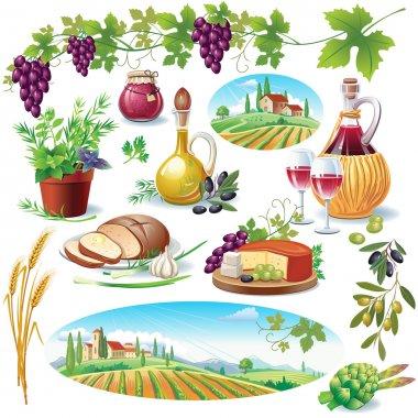Set of food stock vector