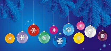 set of Christmas tree ball