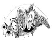 ungewöhnliche abstrakte Bleistiftzeichnung - Gürteltier