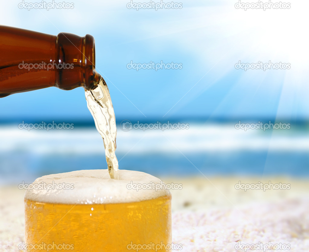 Beer on a beach