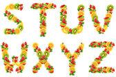 dopisy jsou z ovoce