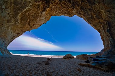 Paradise cave sea blue sky vacation
