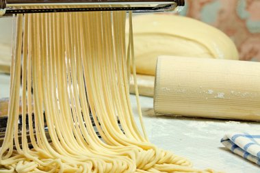 Noodles and pasta machine.