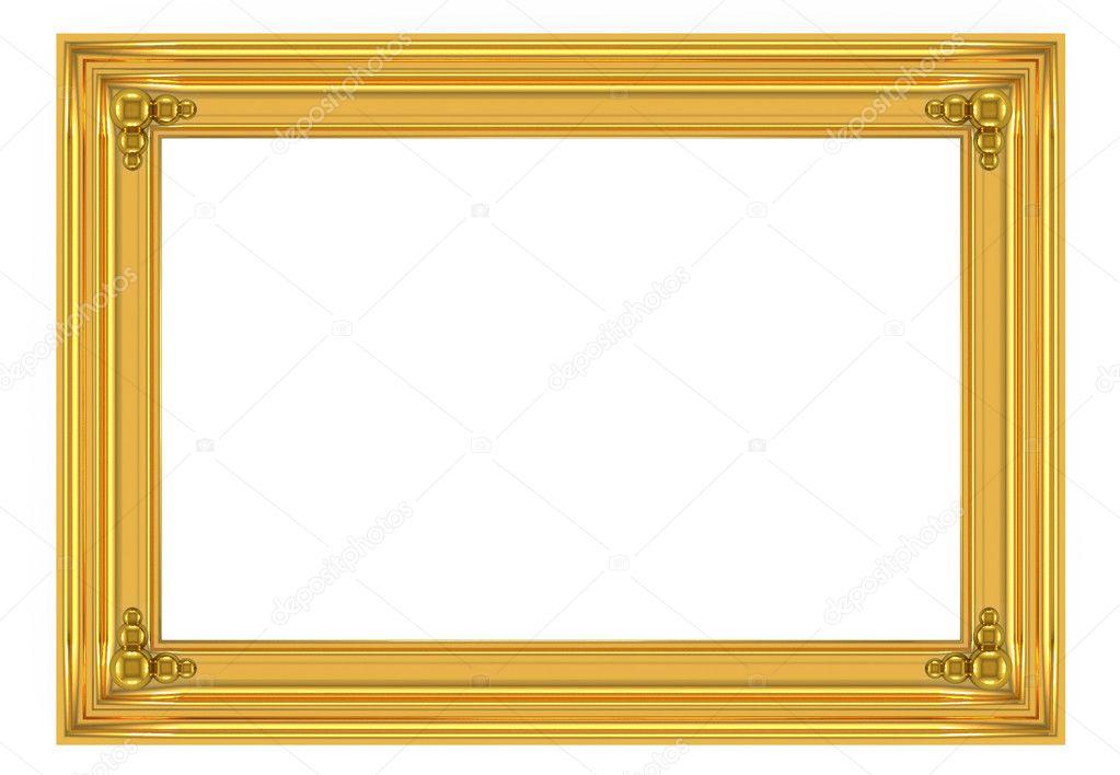 marco dorado 3D — Fotos de Stock © Iraidka #5752671