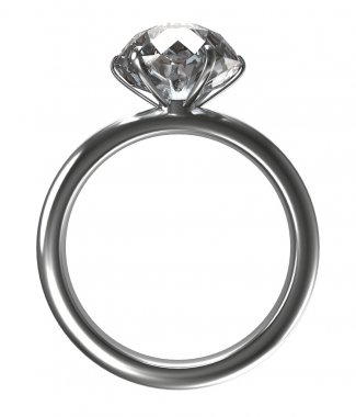 Ring with a large diamond