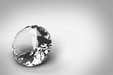 Diamonds isolated on black