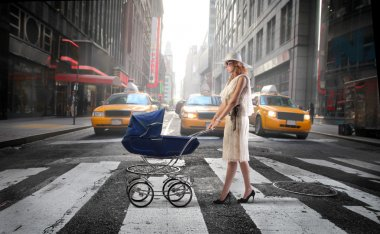 Mother in the city