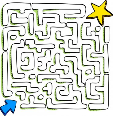 Maze of star