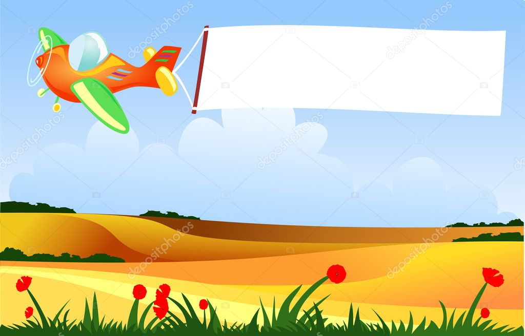 Plane and banner