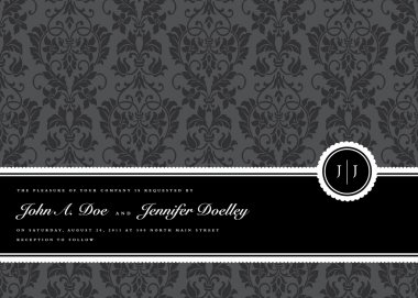 Vector Ribbon Frame and Background