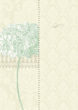 Vector Two Part Floral Background