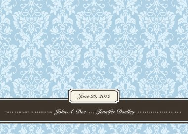 Vector Wedding Background and Small Frames.