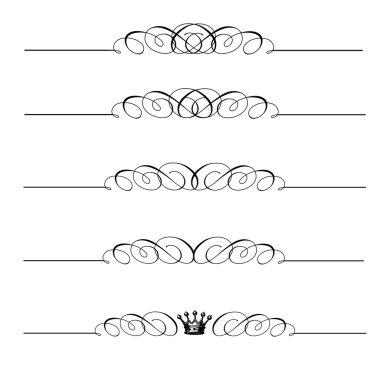 Vector Matching Swirl Ornament Set