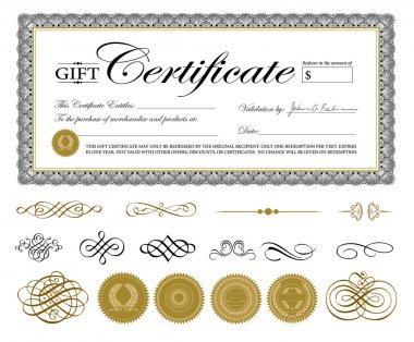 Vector Premium Certificate Template and Ornaments