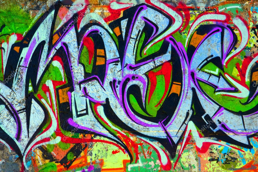 Cement Wall Graffiti : Graffiti on concrete wall stock editorial photo