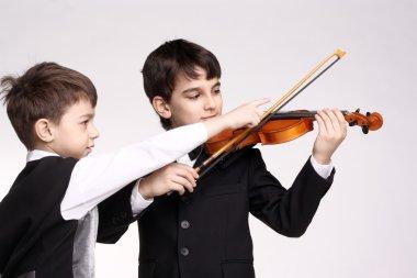 Boys and violin