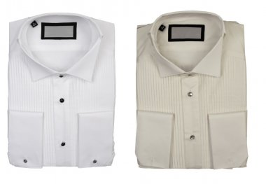 Two cotton shirts, elegance concept