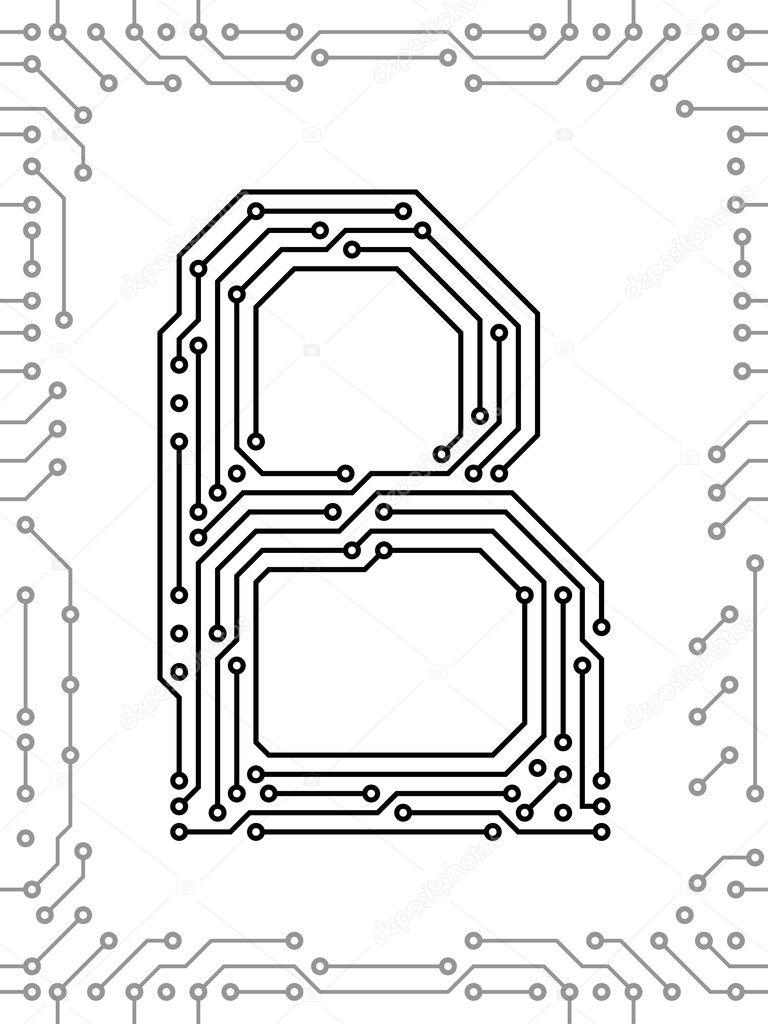 alfabeto di circuiti stampati  u2014 vettoriali stock  u00a9 ivn3da  6120644