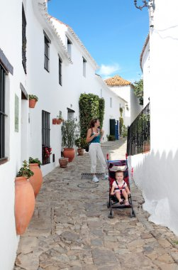 Mother and Daughter on vacation in Spain