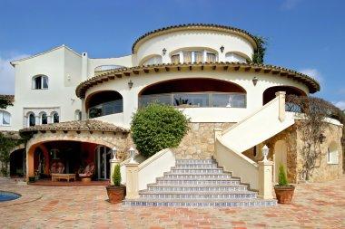 Stunning exterior of luxury villa in Spain
