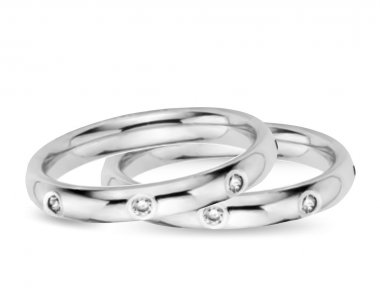 Two Wedding Diamond Rings. Vector illustration